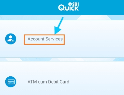 account services sbi quick app