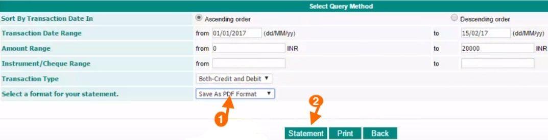 download account statement idbi bank in pdf format