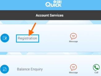 registration sbi quick app