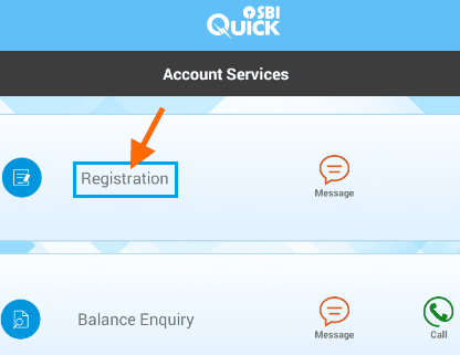registration sbi quick app