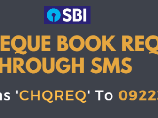 sbi cheque book request through sms