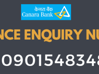 Canara Bank Balance Enquiry Toll Free Number