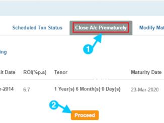 close fixed deposit account in sbi prematurely