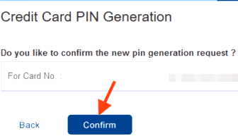 confirm hdfc credit card pin generation