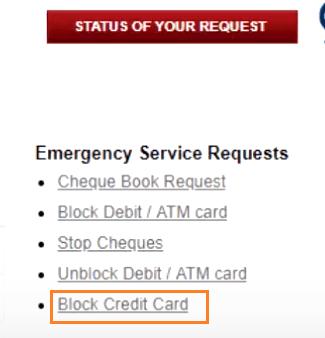 block icici credit card via net banking