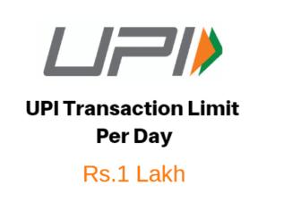 upi transaction limit per day