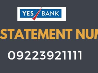 yes bank mini statement toll free number