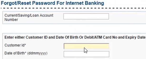 enter customer id dob syndicate bank