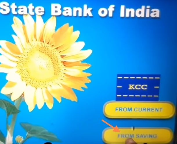 from saving sbi atm