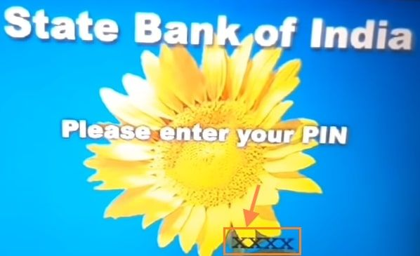 enter sbi four digit pin