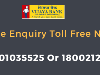 vijaya bank balance enquiry toll free number