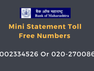 bank of maharashtra mini statement number