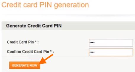 enter new credit card pin icici bank net banking