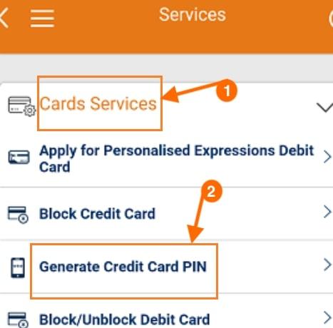 generate credit card pin icici imobile app