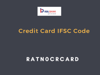 rbl bank credit card ifsc code