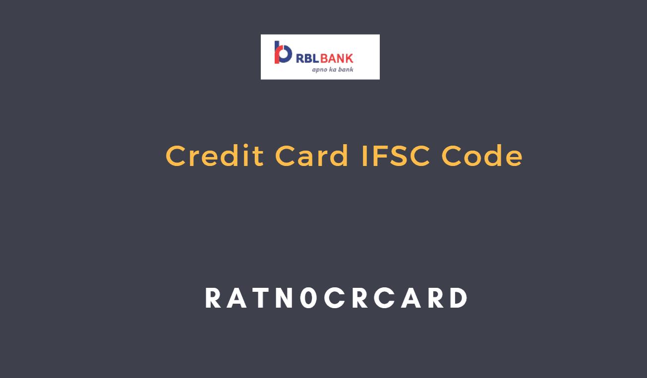 rbl bank credit card ifsc code
