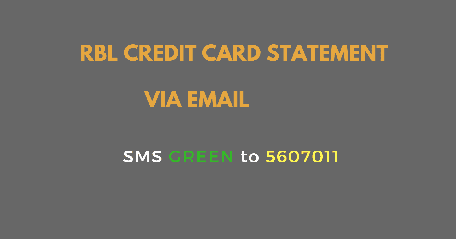 rbl bank credit card statement via email