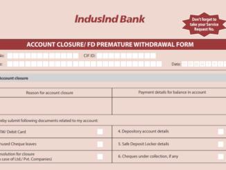 indusind account closure form