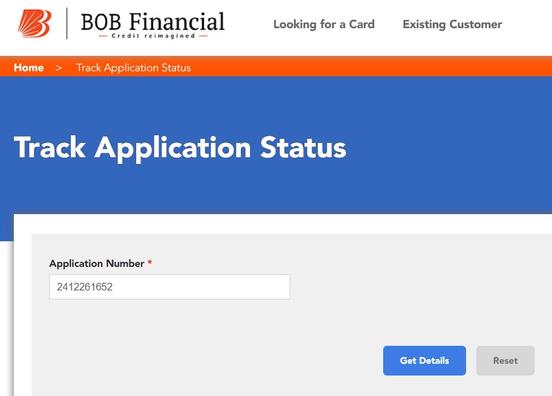 Track Bank of Baroda Credit Card Application Status Online