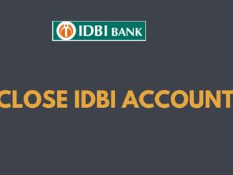 close idbi bank account