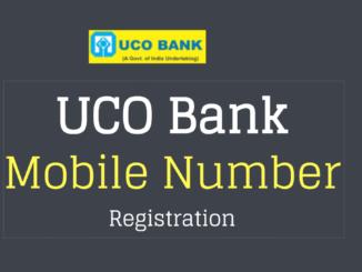 mobile number registration in uco bank