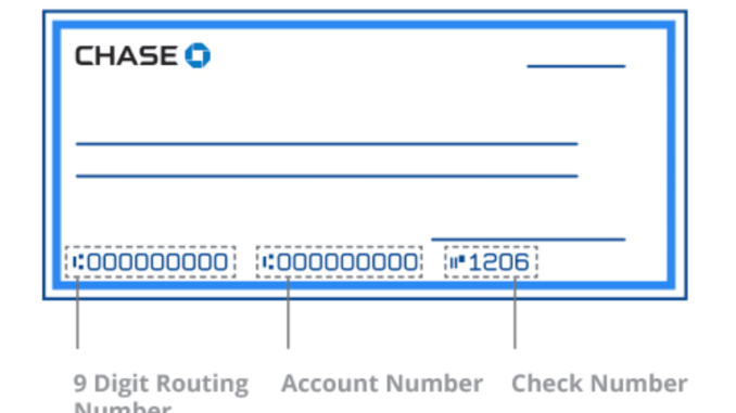chase account number on cheque