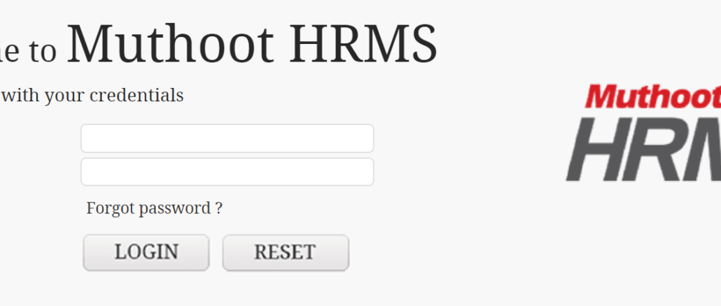 muthoot finance hrms login online