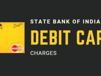 sbi debit card charges