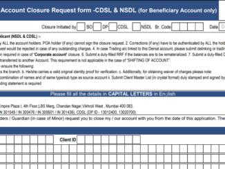 hdfc demat account closure form