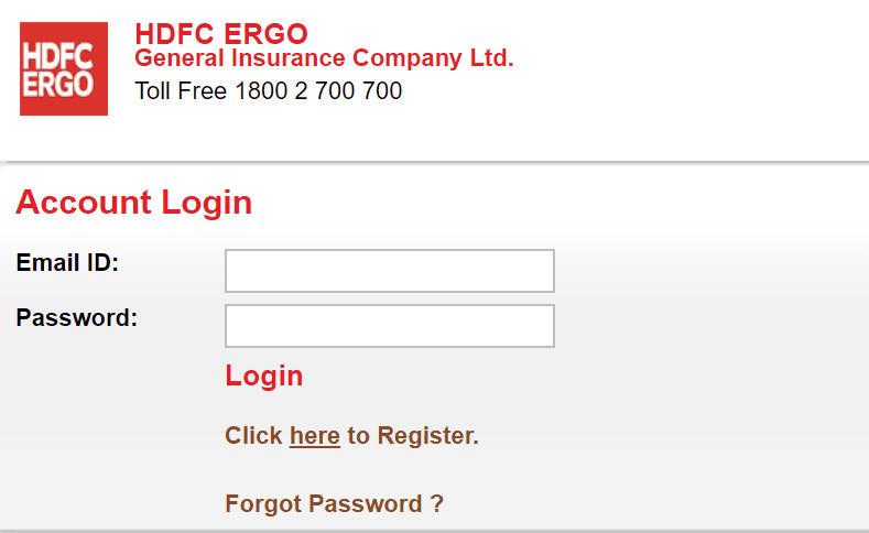 hdfc ergo login