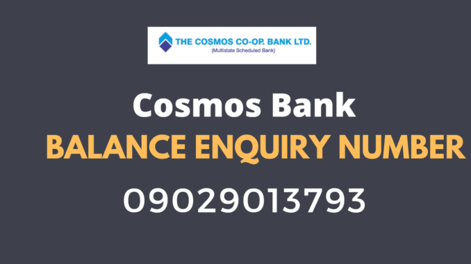 cosmos bank balance check number