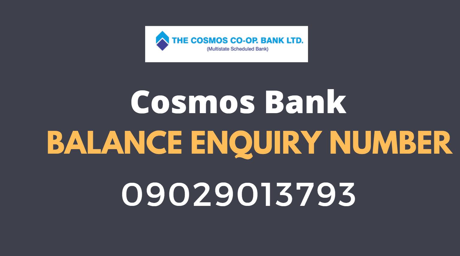 cosmos bank balance check number