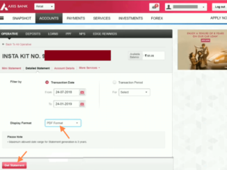download axis bank account statement