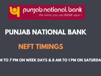 Neft Timings in PNB