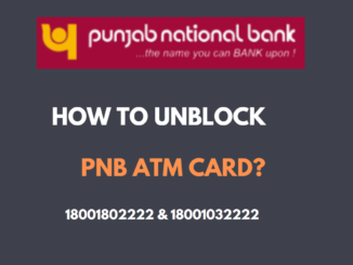 Unblock PNB ATM Debit Card