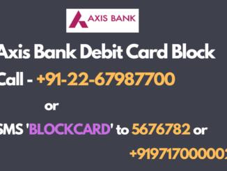 axis bank debit card block number