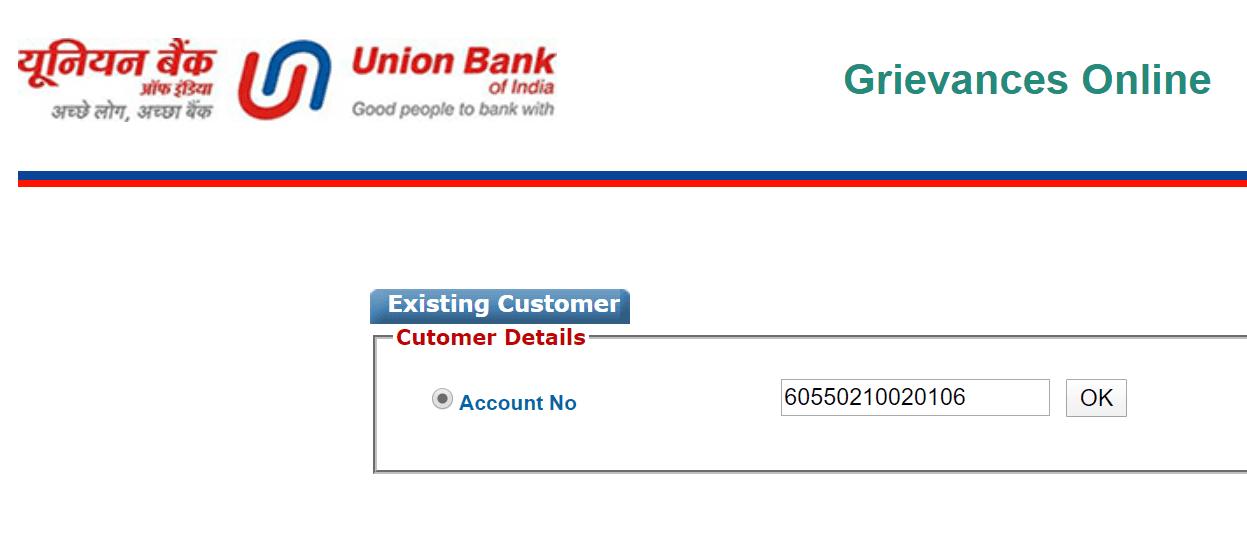 Grievances Online union bank of india