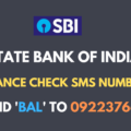 sbi balance check sms number