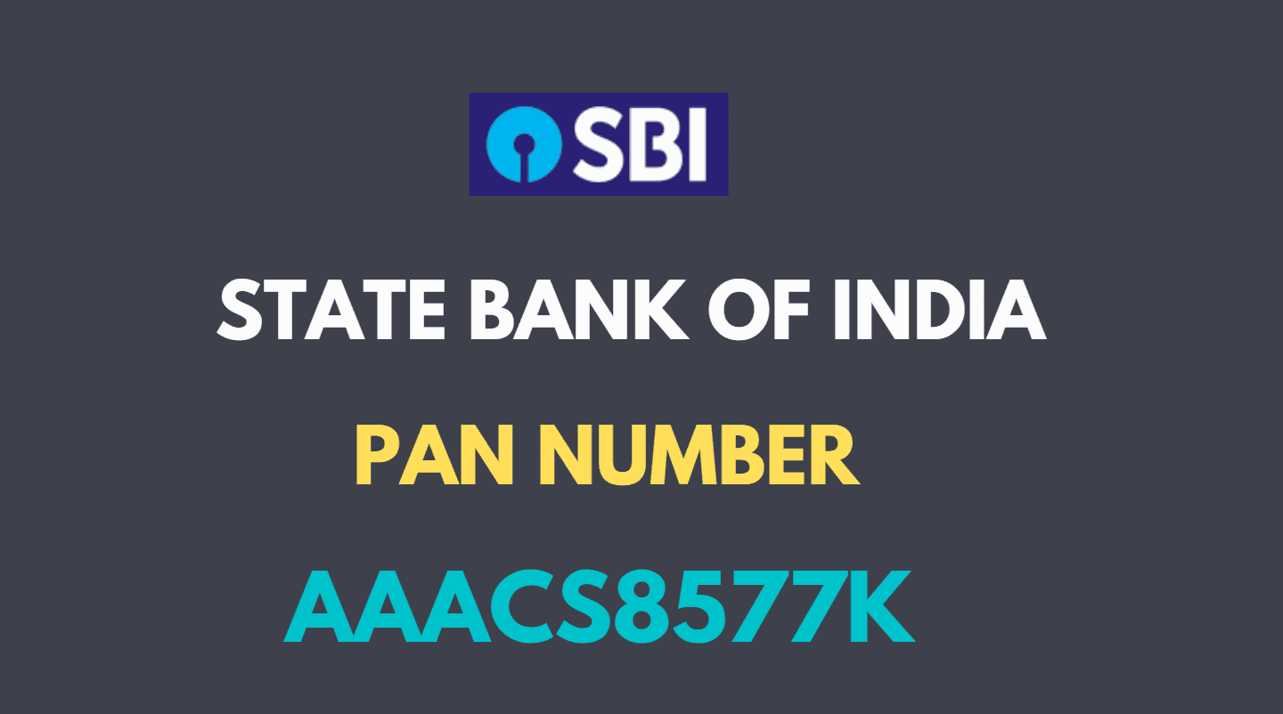 sbi pan number