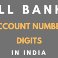 account number digits of banks in india