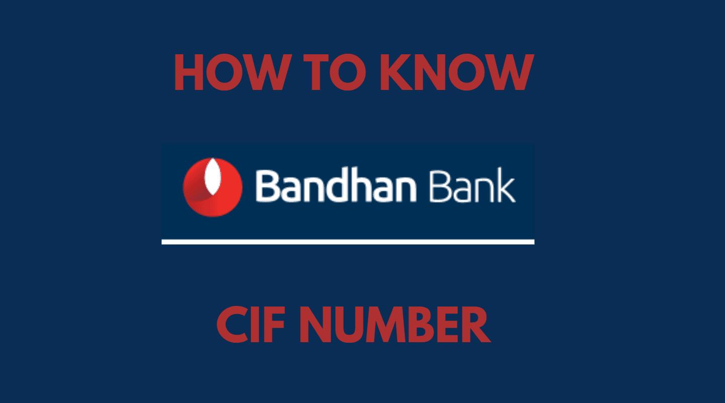 Know Bandhan Bank CIF Number