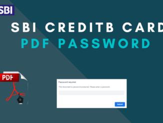 sbi credit card pdf statement password