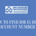 How To Find IOB 15 Digit Account Number