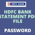way to Open HDFC Bank Statement PDF Password