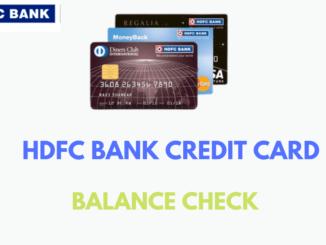 hdfc bank credit card balance check online