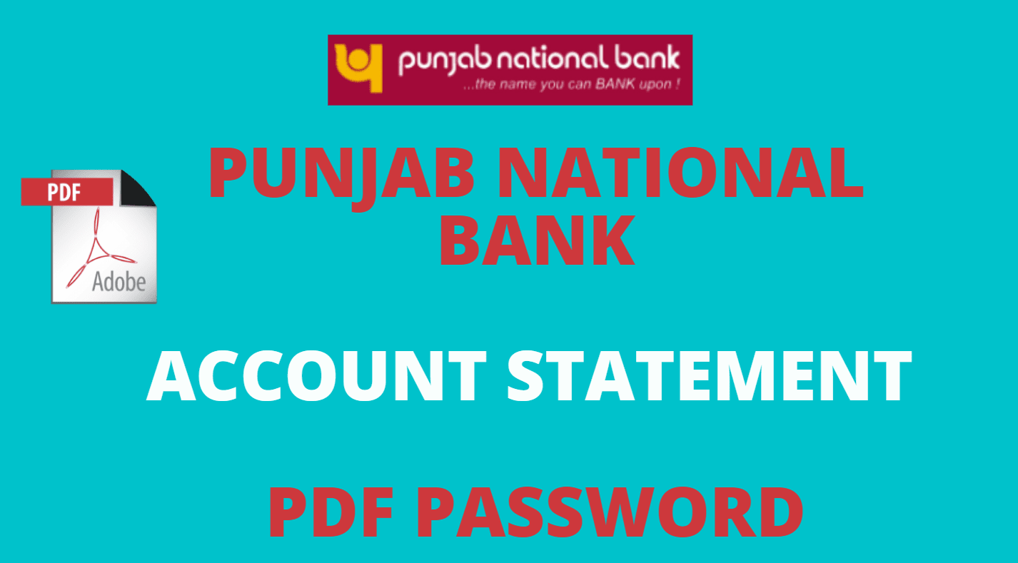 pnb statement pdf password