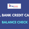rbl credit card balance check