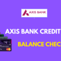 Axis Bank Credit Card Balance Online