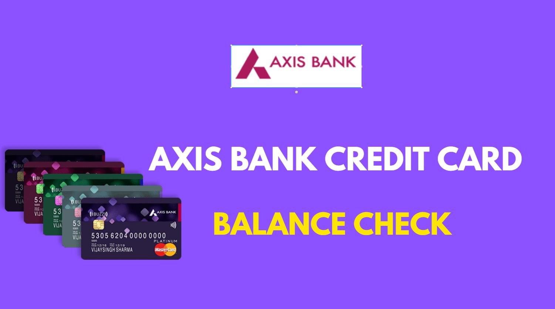 Axis Bank Credit Card Balance Online