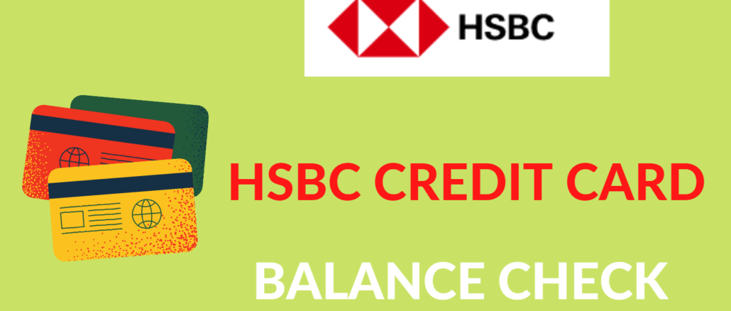 hsbc credit card balance check online